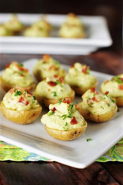 Creamy Bacon Guacamole Potato Bites Photo