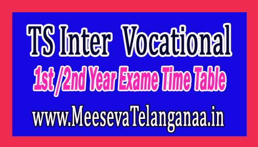 TS Intermediate 1st & 2nd year Examination Time Table 2017 Download