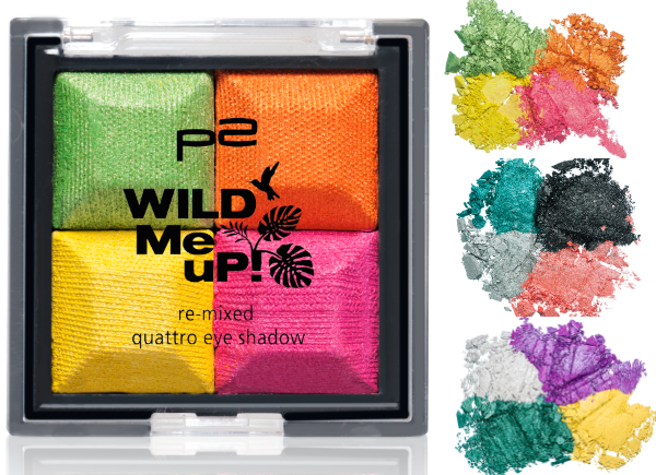 p2 wild me up RE-MIXED QUATTRO eye shadow
