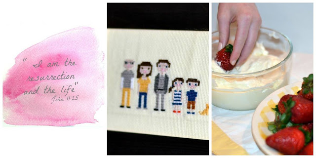 cross stitch portrait tutorial, printable, recipe
