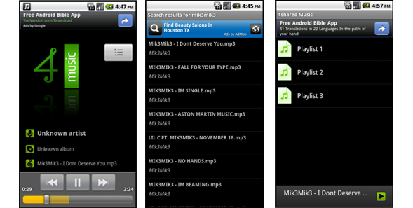 4shared - Best Mp3 Downloader For Android 2020