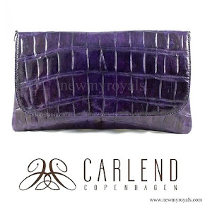 Crown Princess Mary carried Carlend Copenhagen vanessa original croco purple clutch