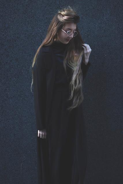 Velvet, Retro Sunglasses and a Black Jumpsuit OOTD