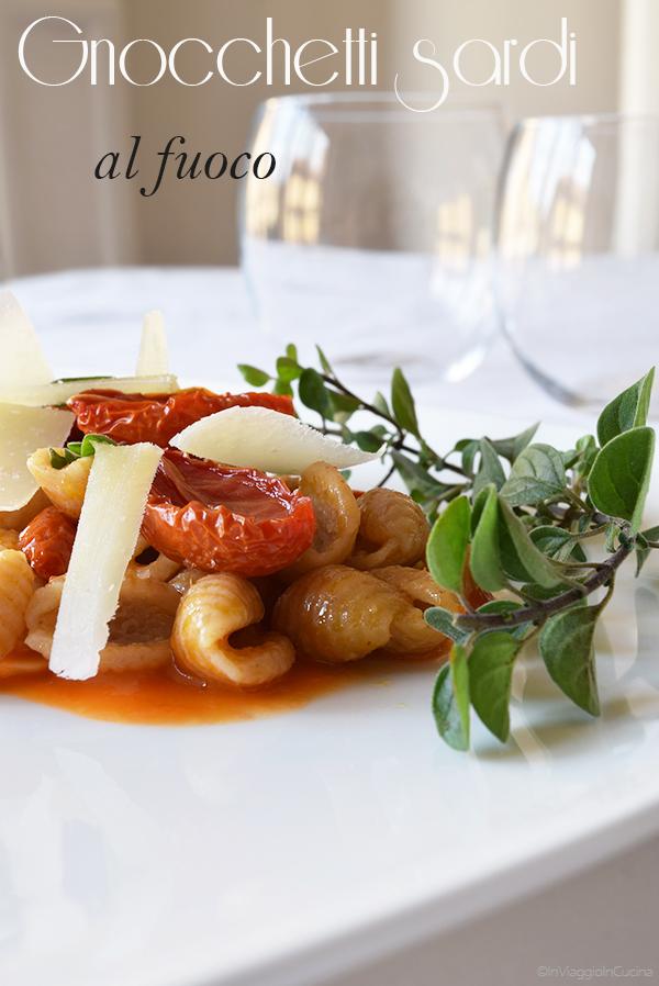 Gnocchetti sardi malloreddus con pecorino e pomodorini confit