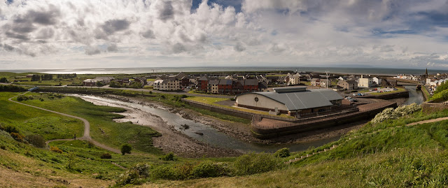 Photo of a wide view of Maryport from Mote Hill