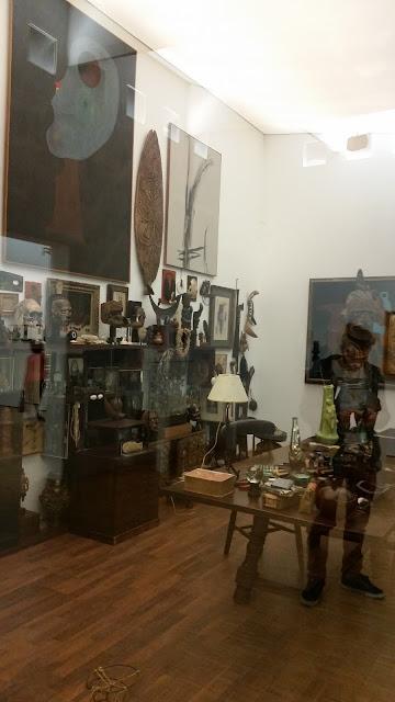 Andre Breton's studio, 1