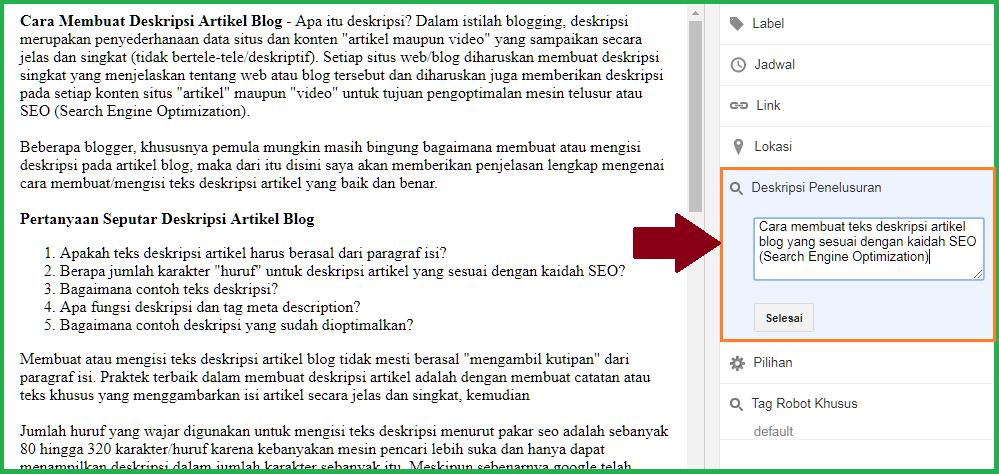 Tips Membuat Deskripsi Artikel Blog Tukang Listrik Batam