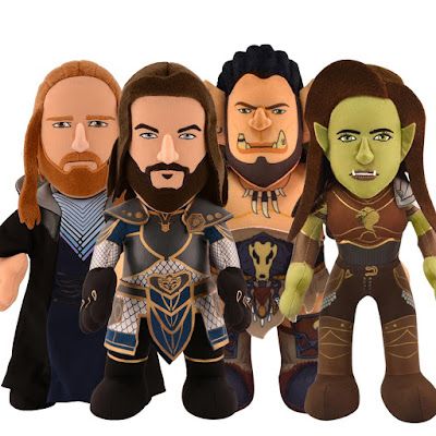 Warcraft Bleacher Creatures Plush Figures - Lothar, Durotan, Garona & Medivh