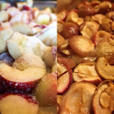 omenalohkot, uuniomenat, sokeri