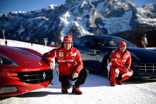 ferrari drivers alonso and felipe massa