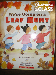 We're Going on a Leaf Hunt fall book study companion activities including an interactive story flow map!