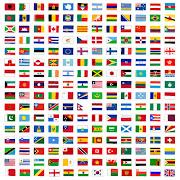 世界の国旗のイラスト(248枚まとめ)