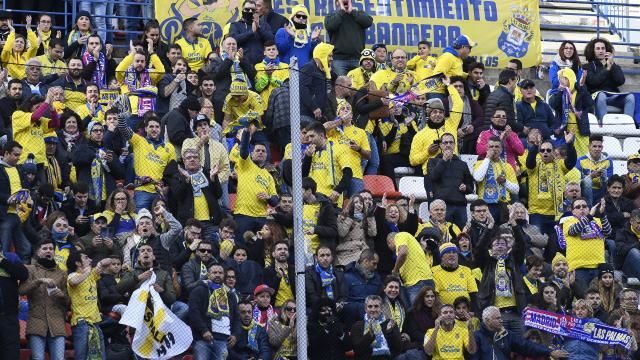 La afición grancanaria es la que nunca falla, tampoco en el Calderón