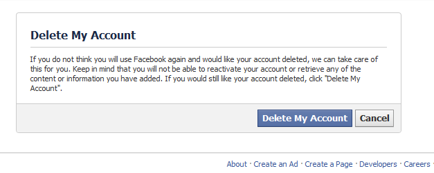 How to delete my facebook account permanently ujjwal aditya and click to delete my account then your account is deactivated and after 14 days it deletes permanently ccuart Images