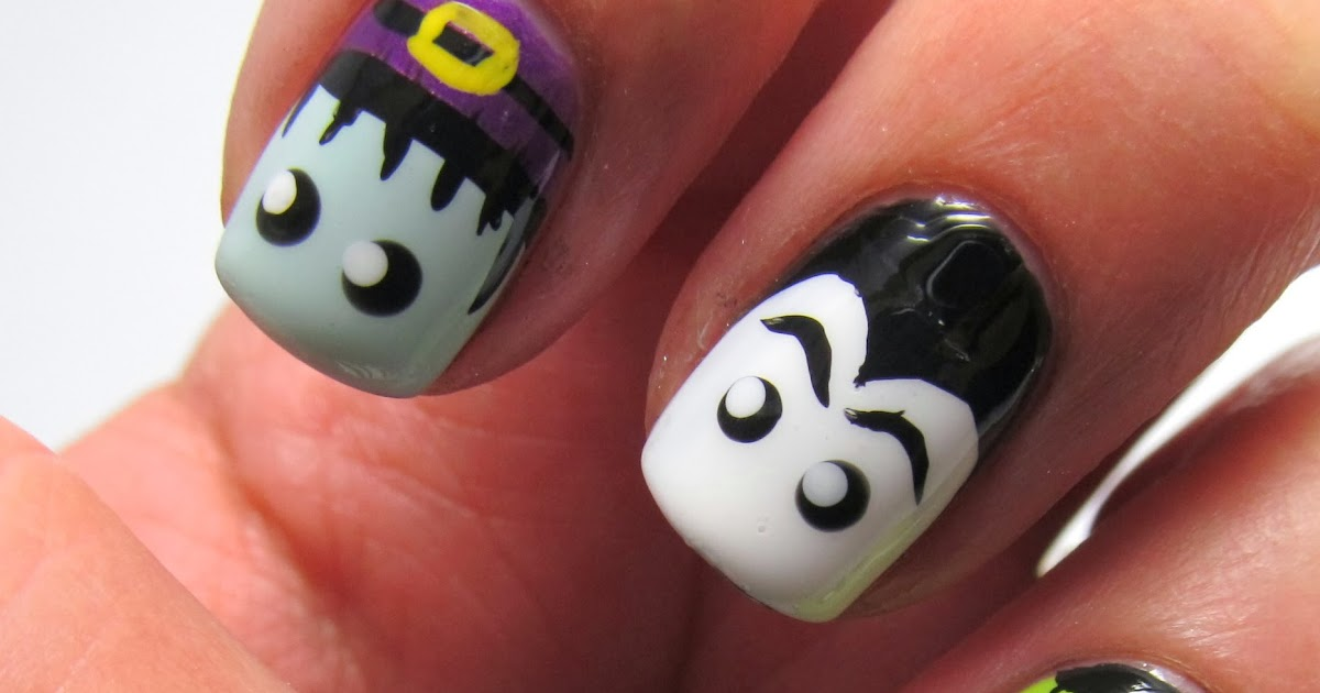 Handtastic Intentions: Nail Art: Halloween Monster Nails