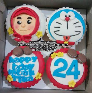 Cupcake Doraemon Fondant 2D