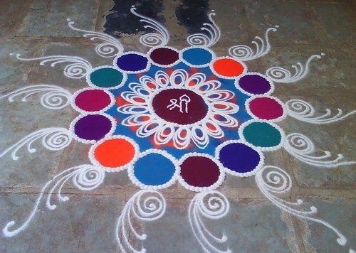 free hand rangoli designs without colours