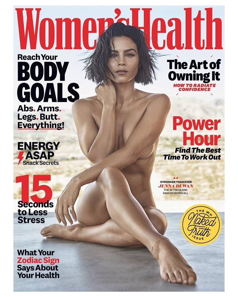 Jenna Dewan poses nude for Women's Health US September 2018