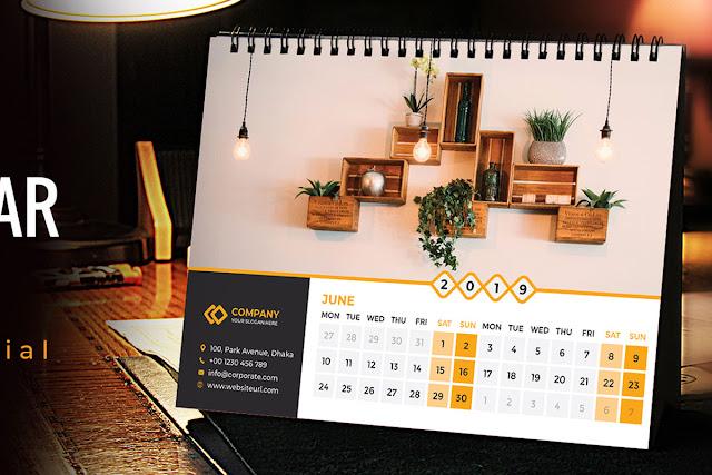 How-To-Create-a-Desk-Calendar-in-Illustrato Desk Calendar 2019 In Illustrator Tutorial | Desk Calendar 2019 | Desk Calendar Mockup Free Download download