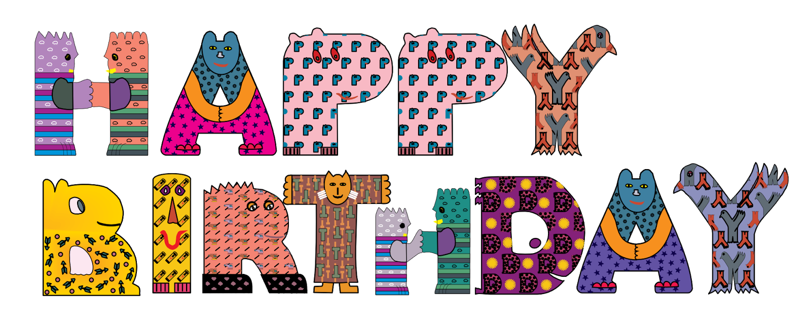 ImagesList.com: Happy Birthday with Letters, part 1