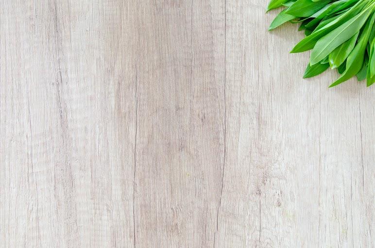 Wood With Leaves On Corner