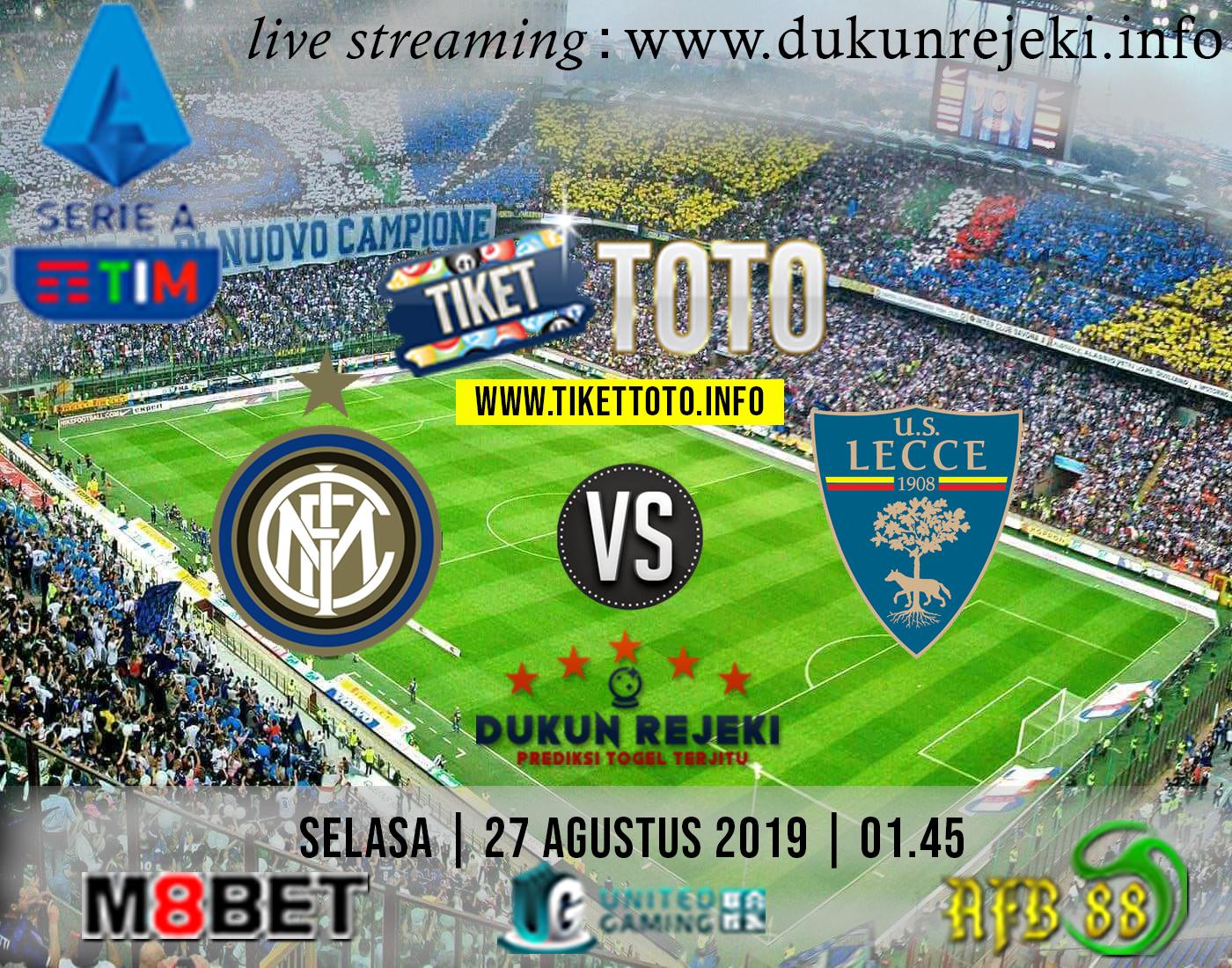 Prediksi Pertandingan Inter Vs Lecce 27 Agustus 2019 – dukunrejeki.info