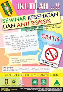 Contoh Pamflet Kegiatan Seminar