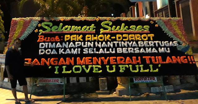 Keren Bukan Jakarta Karangan Bunga Untuk Ahok Ada Di 5 Kota, Bahkan Warga Sumatera Utara Minta Ahok Jadi Gubernur
