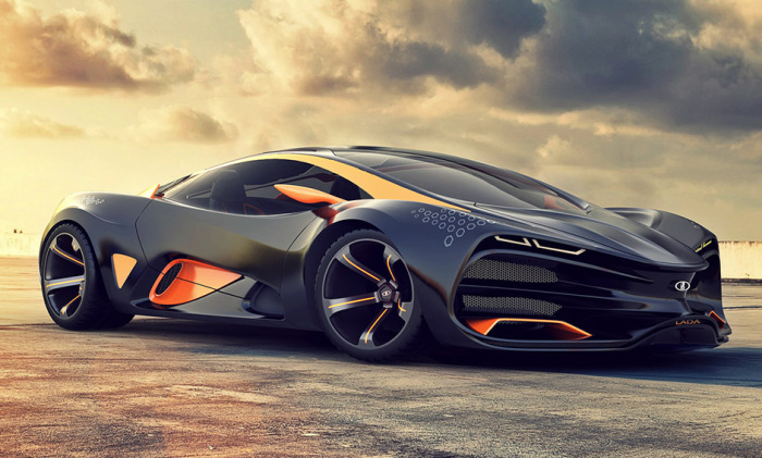 Lada Raven concept supercar from the company AVTOVAZ