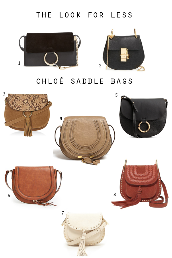 7120714127b The Look for Less. Chloe Faye, Marcie and Drew bag dupes, Chloe bag replicas