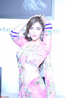 Actress Angela Krislinzki in Pink Saree Blouse Exclusive Pics March 2017 ~  064.JPG
