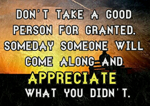 do not take me for granted