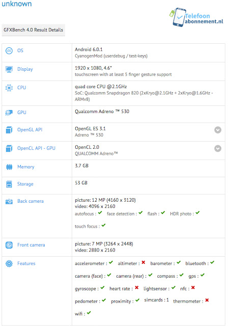 Sony Xperia X Compact Appeared On GFXBenchmark
