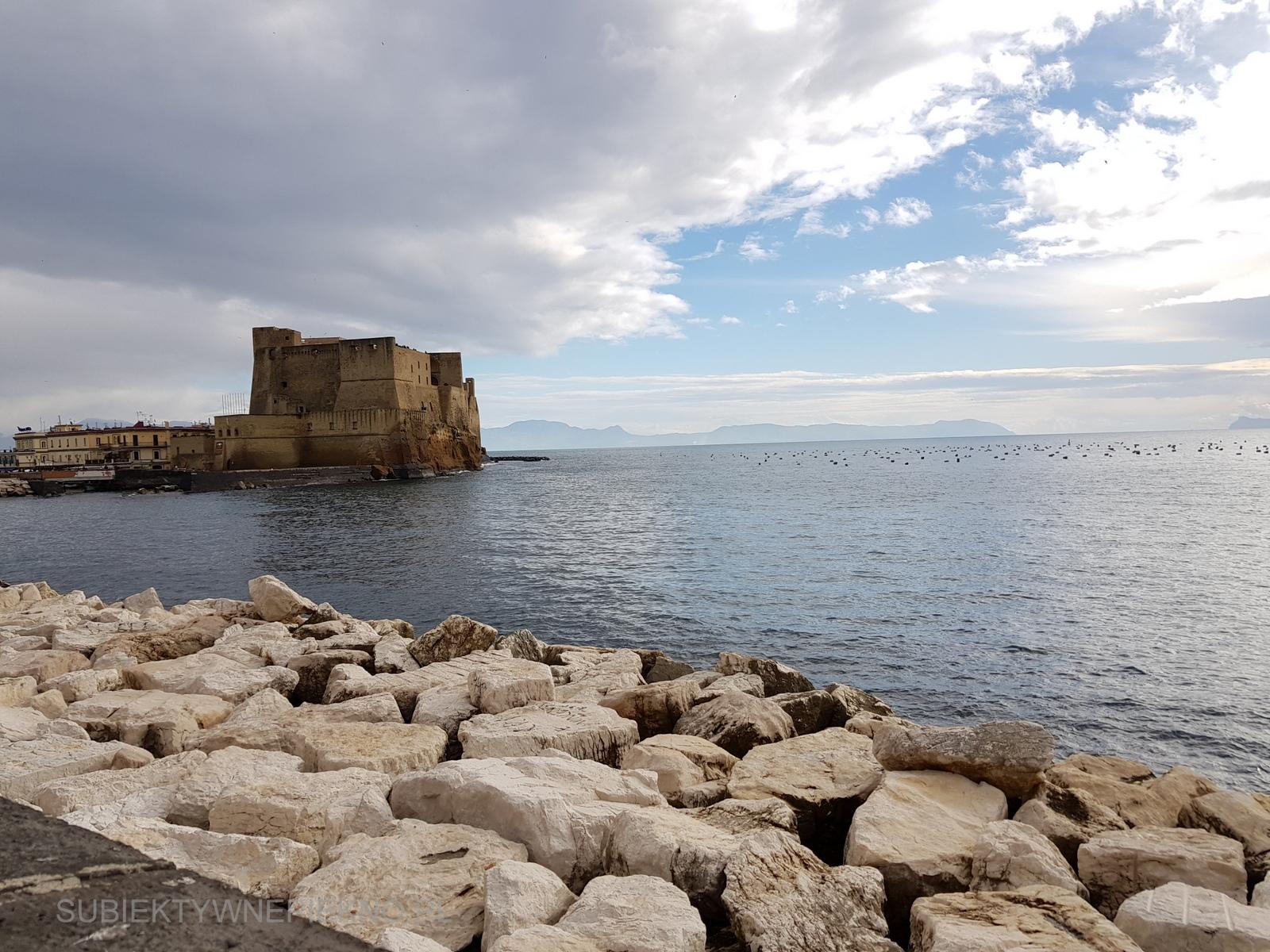 Neapol Włochy Zamek Jajeczny. Castel dell'Ovo