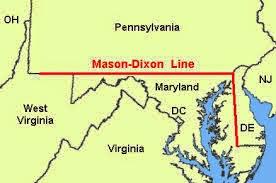 http://en.wikipedia.org/wiki/Mason%E2%80%93Dixon_line