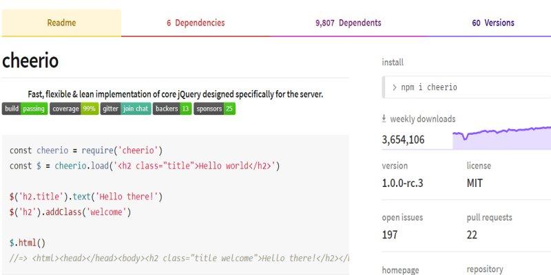 Google Apps Script 網頁爬蟲麻煩事交給 Cheerio 解決,輕鬆解析 HTML 與 XML