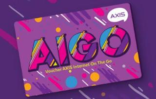 Axis Aigo, Voucher Internet Murah Kuota Melimpah
