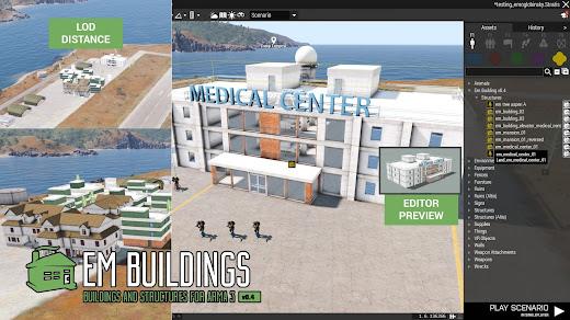 Arma3でCQB用の建物MODの病院