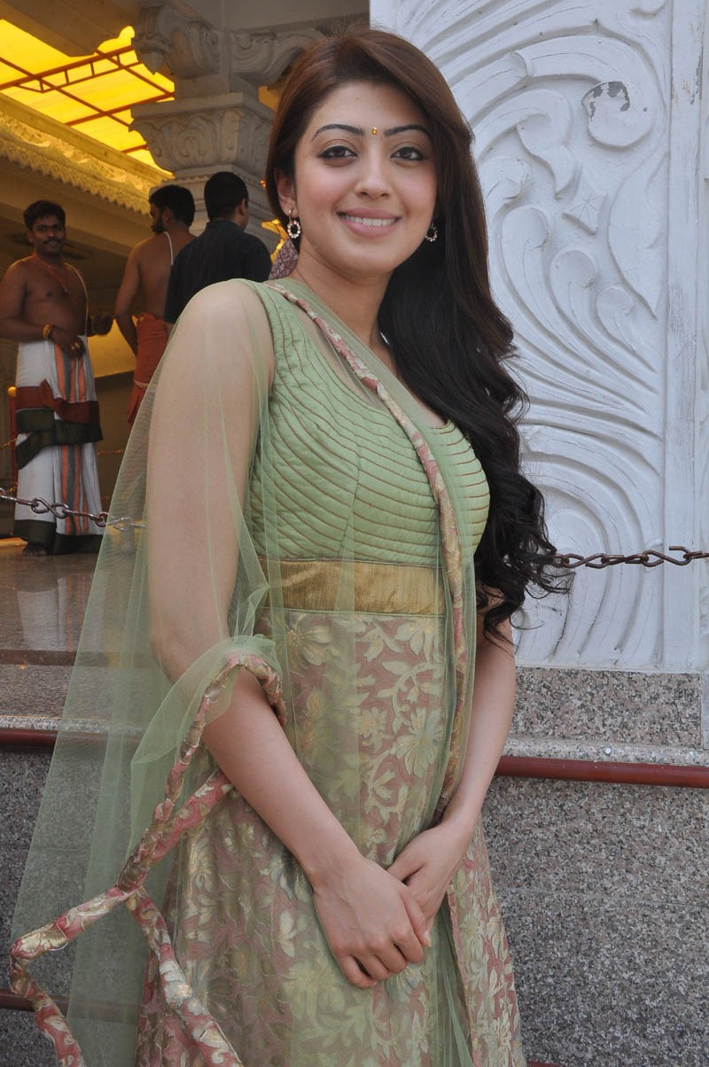 Cute charming Pranitha in traditional salwar kameez new stills at mohan babu movie launch