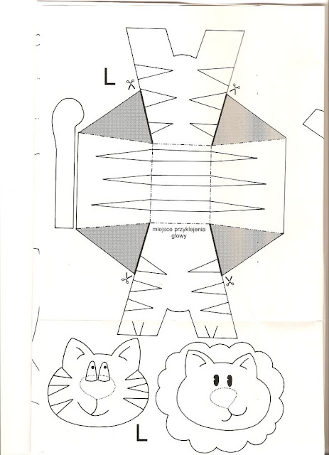 León y tigre. Juguetes de papel. | Ideas y material gratis para ...