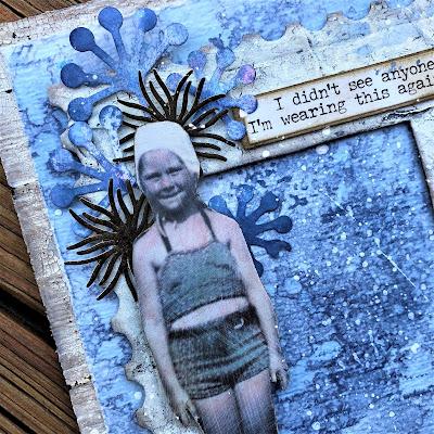 Sara Emily Barker http://sarascloset1.blogspot.com/ One Last Beach Day Shabby Card #timholtz #sizzixalterations #stampersanonymous #rangerdistress 2