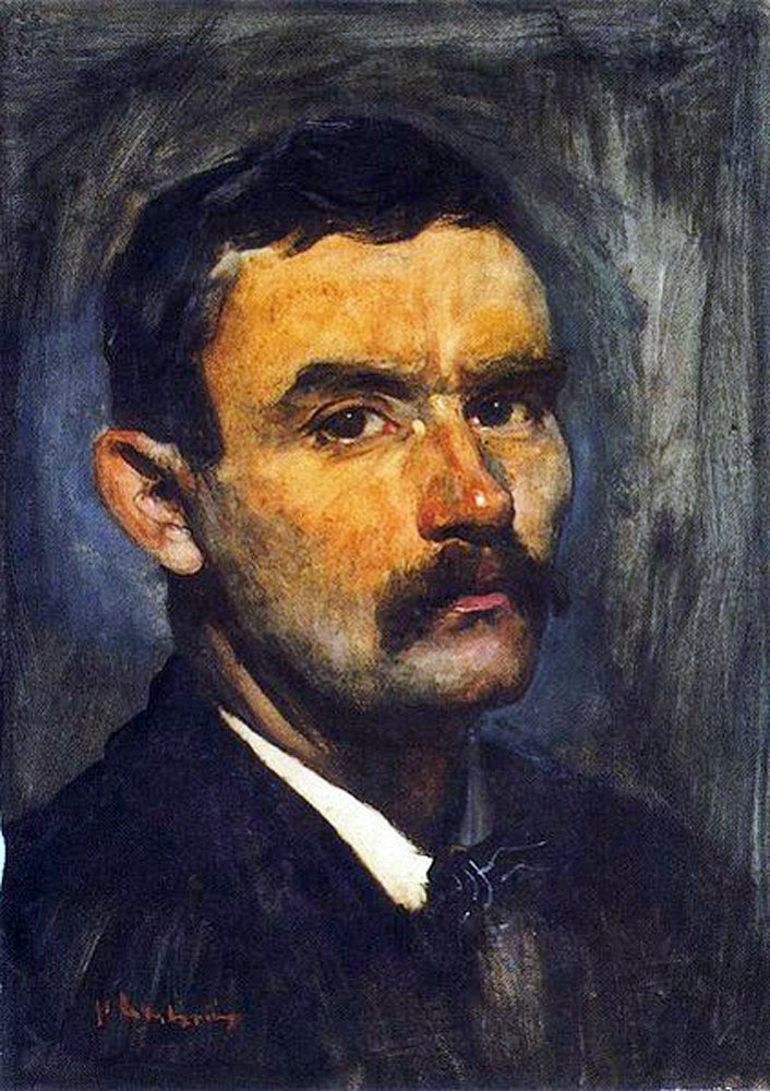Floris Arntzenius, Self Portrait, Portraits of Painters, Fine arts, Painter Floris Arntzenius