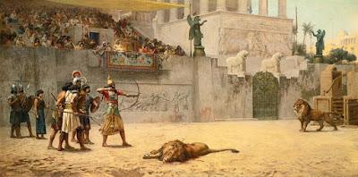 Un espectáculo de venationes, con un arquero tan diestro como el emperador gladiador Cómodo