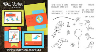 Stampin' Up! Bird Banter Card Kit for May 2018 Stamp of the Month Club by Julie Davison www.juliedavison.com/clubs