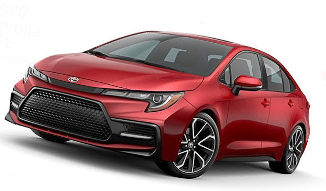 Toyota-Corolla-XSE-2020-Barcelona-Red-Metallic-grille-headlight
