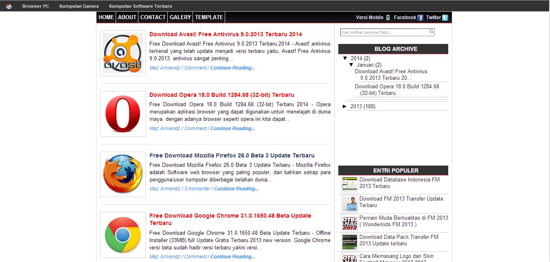 Download Template SEO Frendly Valid HTML5 - perampok google
