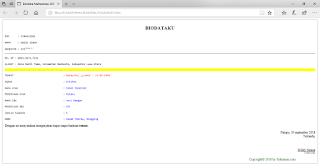 contoh script dan cara membuat biodata diri html sederhana