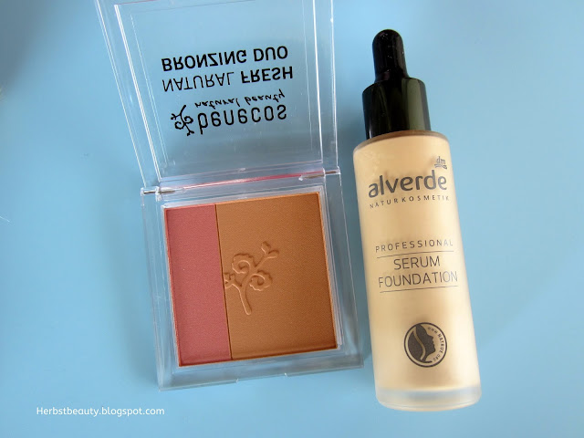 Alverde Professional Serum Foundation, Benecos Bronzing Duo