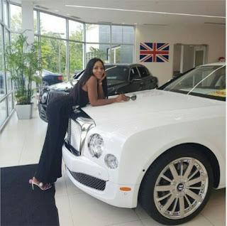 Linda ikeji's Bentley Mulsanne