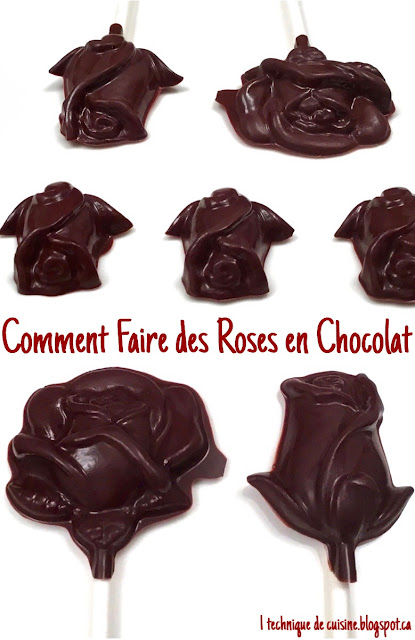 1 technique de cuisine comment faire des roses en chocolat. Black Bedroom Furniture Sets. Home Design Ideas